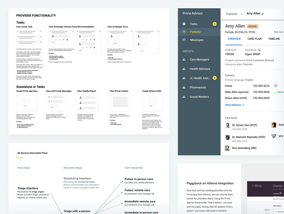 A collage of images representing various user experience deliverables.