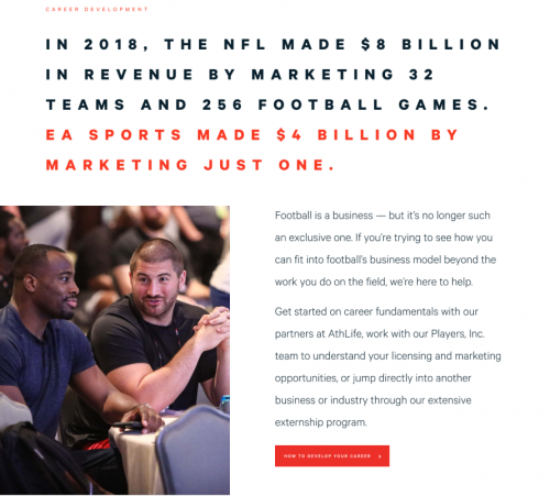 NFLPA creative strategy