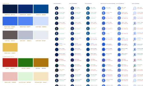 Refreshed color scheme with accessibility guidelines