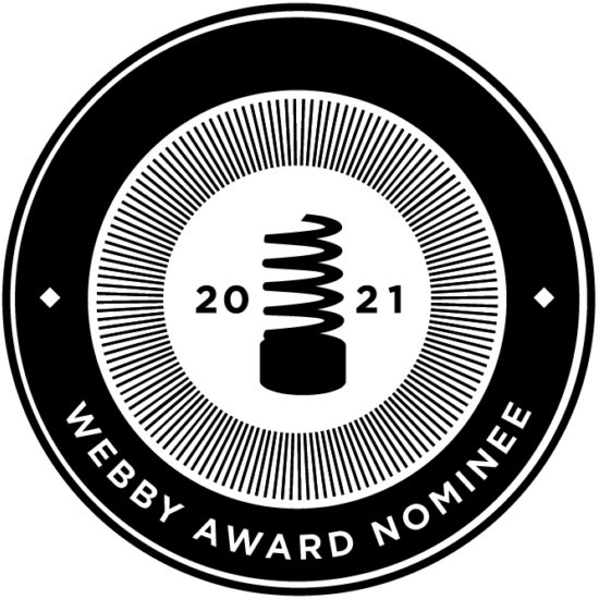 Site Badges 2021 webby nominee