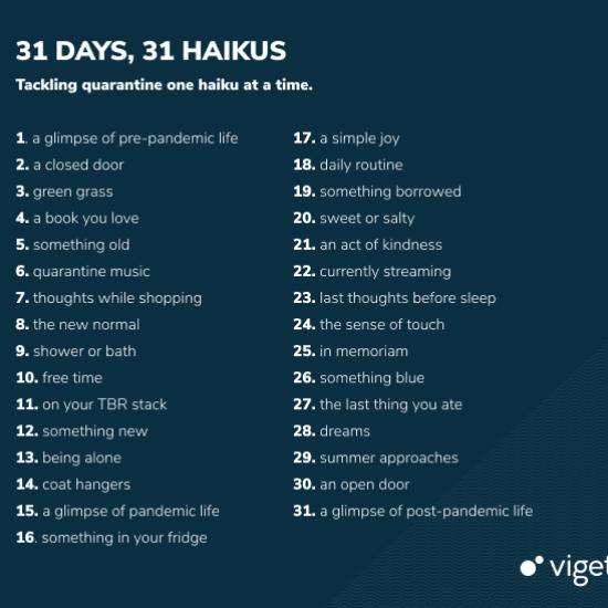 Viget May 2020 Haiku Prompts