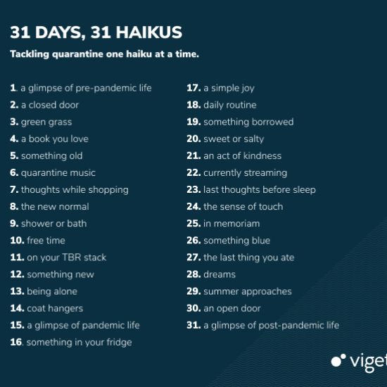 Viget May 2020 Haiku Prompts