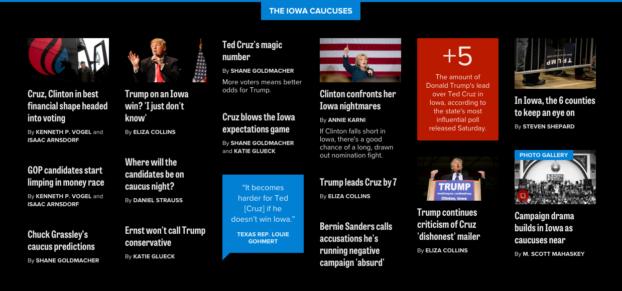 Introducing POLITICO's 2016 Election Coverage | Viget