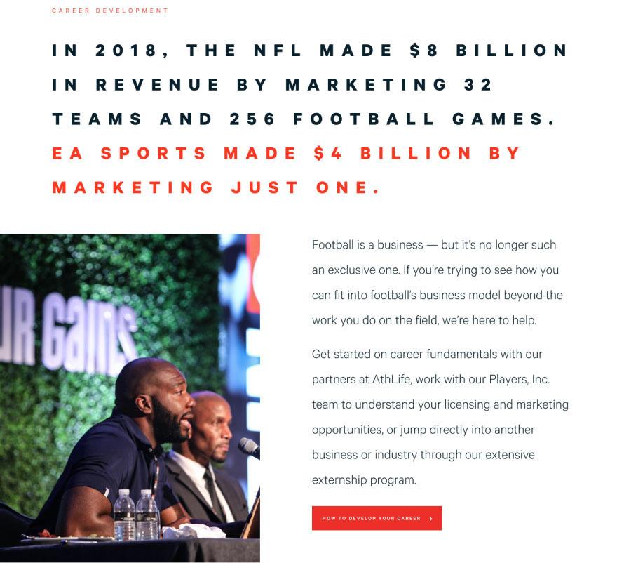 NFLPA creative strategy