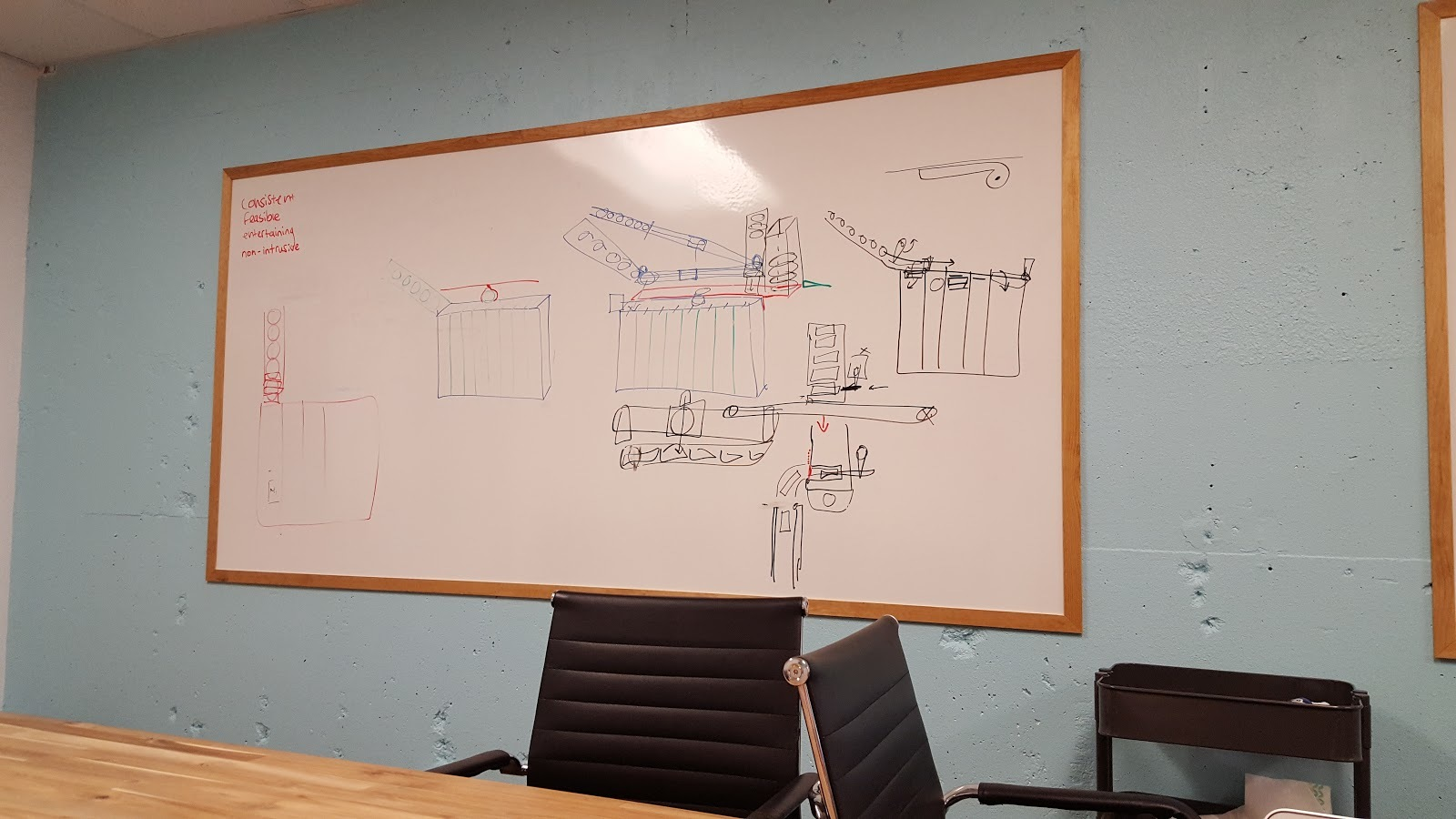 Planning the mechanism on Viget's whiteboard.