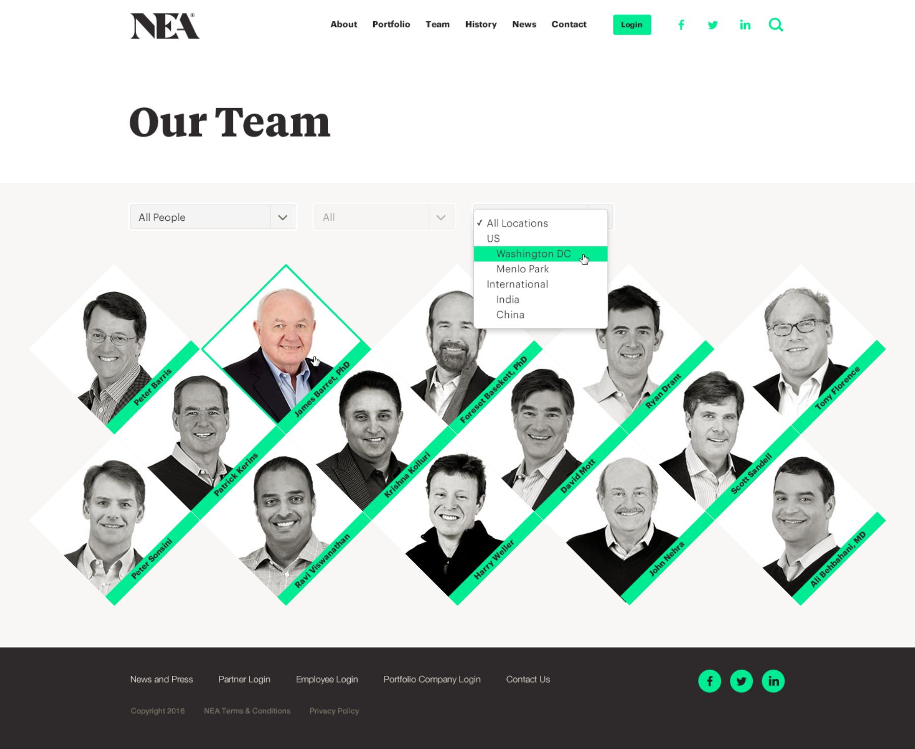 New Enterprise Associates - NEA com | Viget