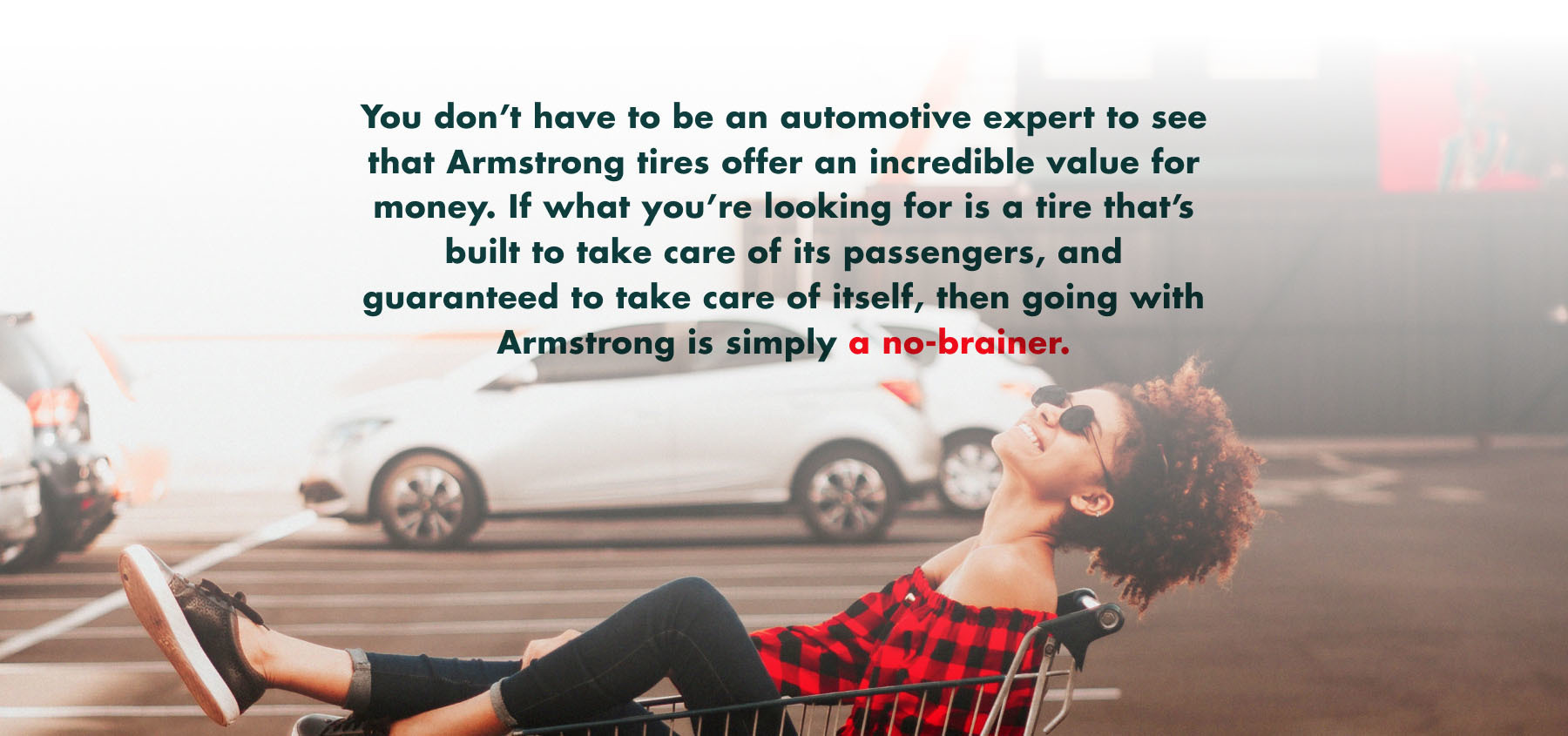 An image that includes sample image creative direction and sample text from Armstrong's brand guide